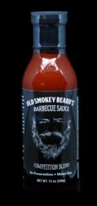 Old Smokey Beard's BBQ Sauce Bottle