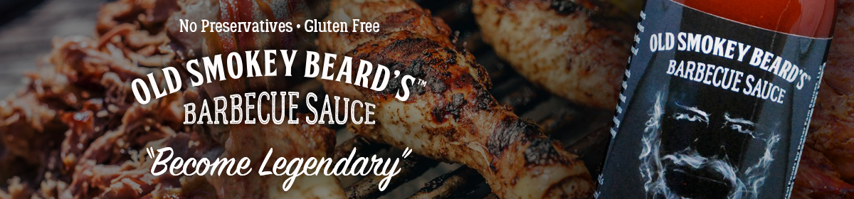 No Preservatives. Gluten Free. Old Smokey Beard's Barbecue Sauce - Become Legendary