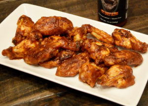 Close Up of Spicy BBQ Chicken Wings