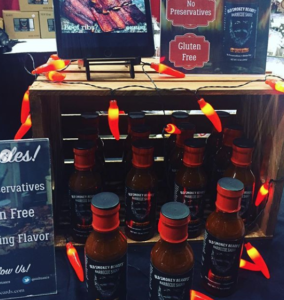 Lil' Spicy Blend BBQ sauce Display